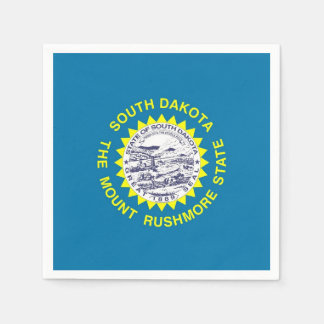 Patriotic paper napkins with South Dakota flag