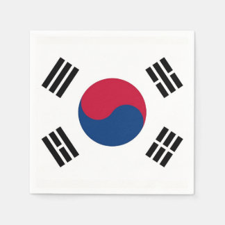 Patriotic paper napkins with South Korea flag