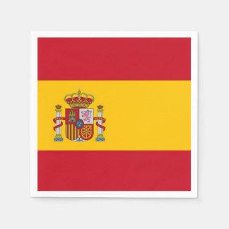 Patriotic paper napkins with Spain flag