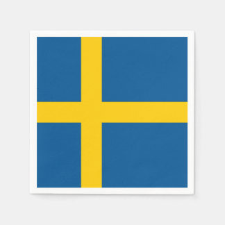 Patriotic paper napkins with Sweden flag