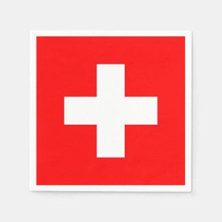 Patriotic paper napkins with Switzerland flag