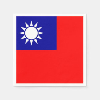 Patriotic paper napkins with Taiwan flag Paper Napkin