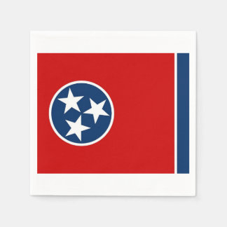Patriotic paper napkins with Tennessee flag