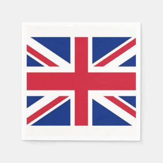Patriotic paper napkins with United Kingdom flag