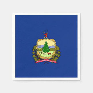 Patriotic paper napkins with Vermont flag