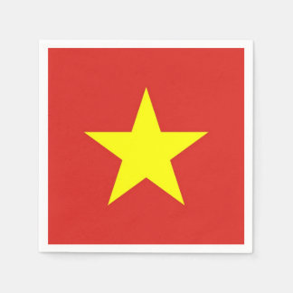 Patriotic paper napkins with Vietnam flag