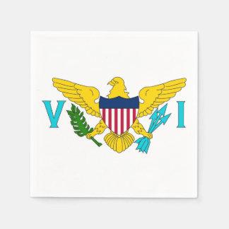 Patriotic paper napkins with Virgin Islands flag