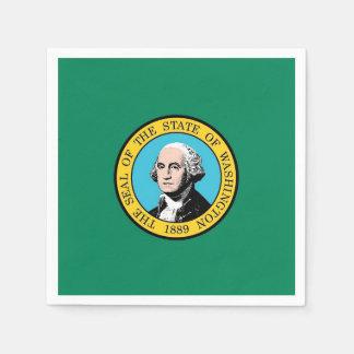 Patriotic paper napkins with Washington State flag
