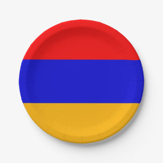 Patriotic paper plate with flag of Armenia