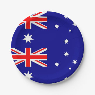 Patriotic paper plate with flag of Australia