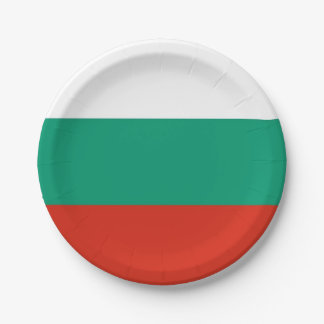 Patriotic paper plate with flag of Bulgaria