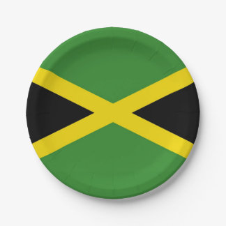 Patriotic paper plate with flag of Jamaica