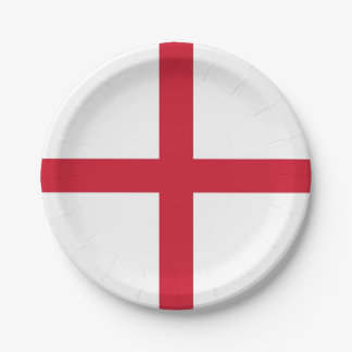 Patriotic paper plate with flag of United Kingdom