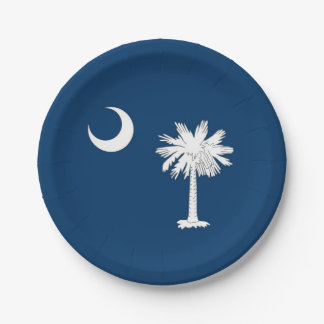 Patriotic paper plate with South Carolina flag