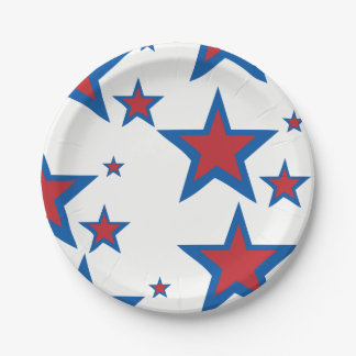 Patriotic Paper Plates 7 Inch Paper Plate
