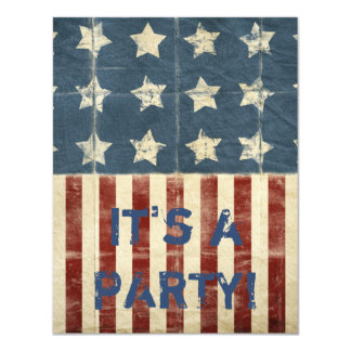 Patriotic Party 11 Cm X 14 Cm Invitation Card