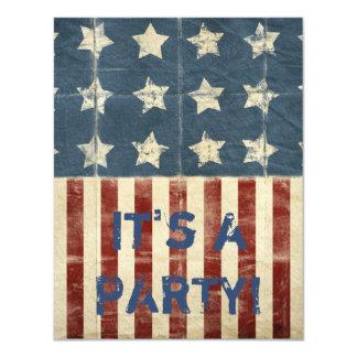 Patriotic Party 11 Cm X 14 Cm Invitation Card