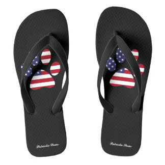 PATRIOTIC PAWS THONGS