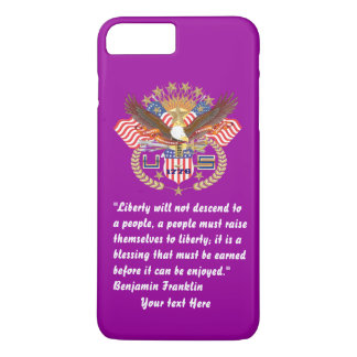 Patriotic Peace Forest Deep Violet iPhone 8 Plus/7 Plus Case