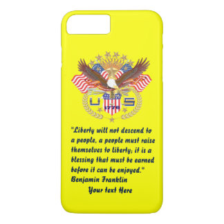 Patriotic Peace Forest Plum yellow iPhone 8 Plus/7 Plus Case