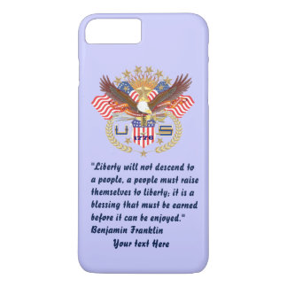 Patriotic Peace Forest Powder Blue iPhone 7 Plus Case