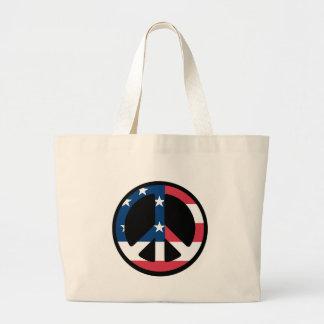 Patriotic Peace - Jumbo Tote Bag