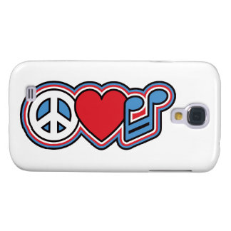 Patriotic Peace Love Music Galaxy S4 Covers