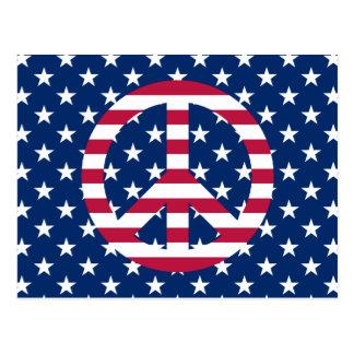 Patriotic Peace Postcard