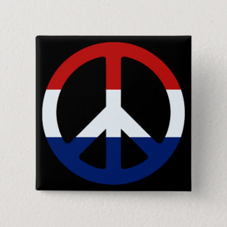 Patriotic Peace Symbol 15 Cm Square Badge