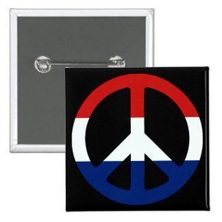 Patriotic Peace Symbol 15 Cm Square Badge