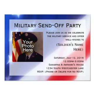 Patriotic Photo Military Send-off Party Invitation
