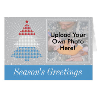 Patriotic Photo Template Season's Greetings Card