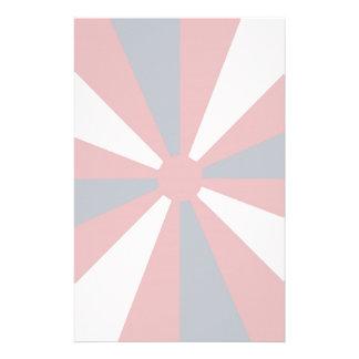 Patriotic Pinwheel Stationery Design