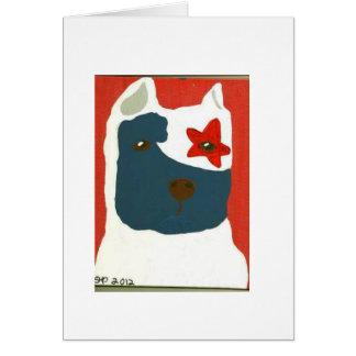 Patriotic Pit Bull Card