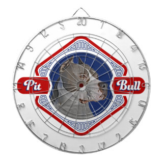 Patriotic Pit Bull Dog Logo Dartboard
