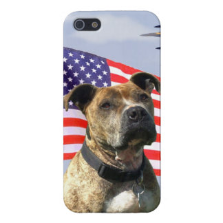 Patriotic pitbull dog iPhone 5/5S cover