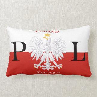 Patriotic Poland Polska Flag American MoJo Pillow Throw Cushion