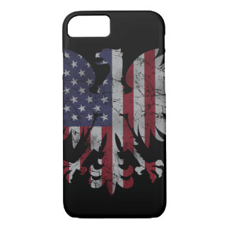 Patriotic Polish American Eagle Flag Heritage iPhone 8/7 Case