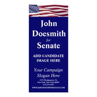 Patriotic Political Campaign Rack Card