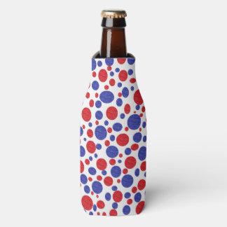 Patriotic Polka Dots Can or Bottle Cooler