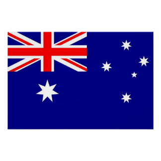 Patriotic poster with Flag of Australia