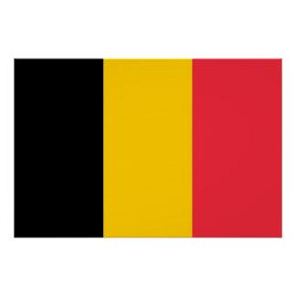 Patriotic poster with Flag of Belgium