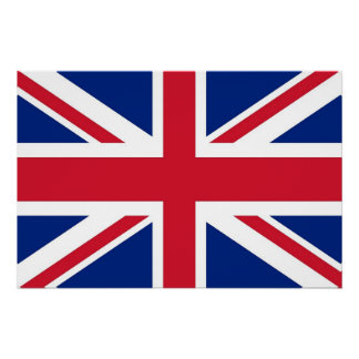 Patriotic poster with Flag of United Kingdom