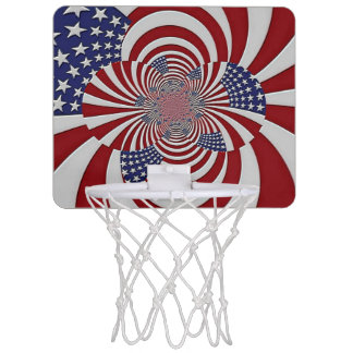 """Patriotic Pride"" Mini Basketball Hoop"