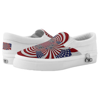 """Patriotic Pride"" tie free tennis shoes"