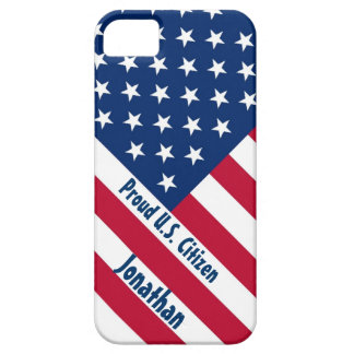 Patriotic Proud U.S. Citizen F504 iPhone 5 Cases