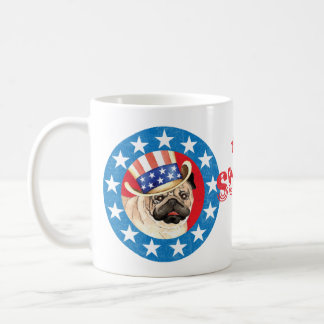 Patriotic Pug Coffee Mug