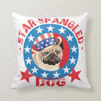 Patriotic Pug Cushion