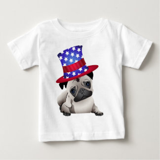 Patriotic Pugs - Add Your Own Text Baby T-Shirt