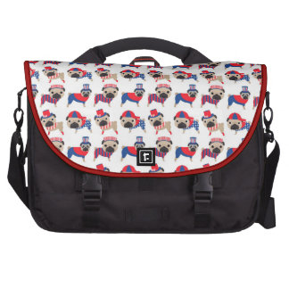 Patriotic Pugs Laptop Commuter Bag